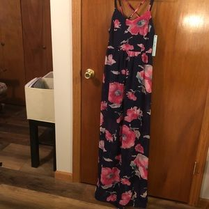 Navy and Floral Maxi